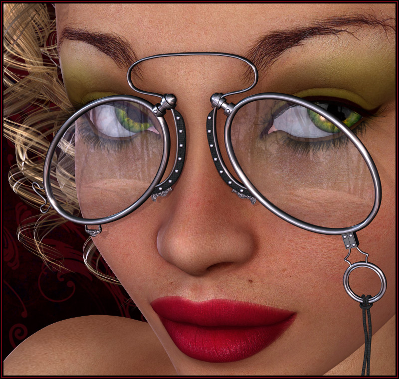 Pd-Pince-Nez Glasses