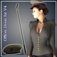 Officer Dress for V4 3D Figure Essentials JTrout