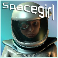 Spacegirl 3D Figure Essentials 3D Models chasfh