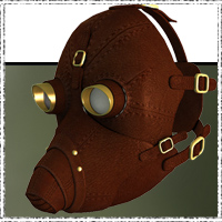 SteamPunk - Protective Mask by jonnte
