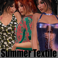 Summer Textile - Colourful Twist Themed 2D And/Or Merchant Resources Anagord
