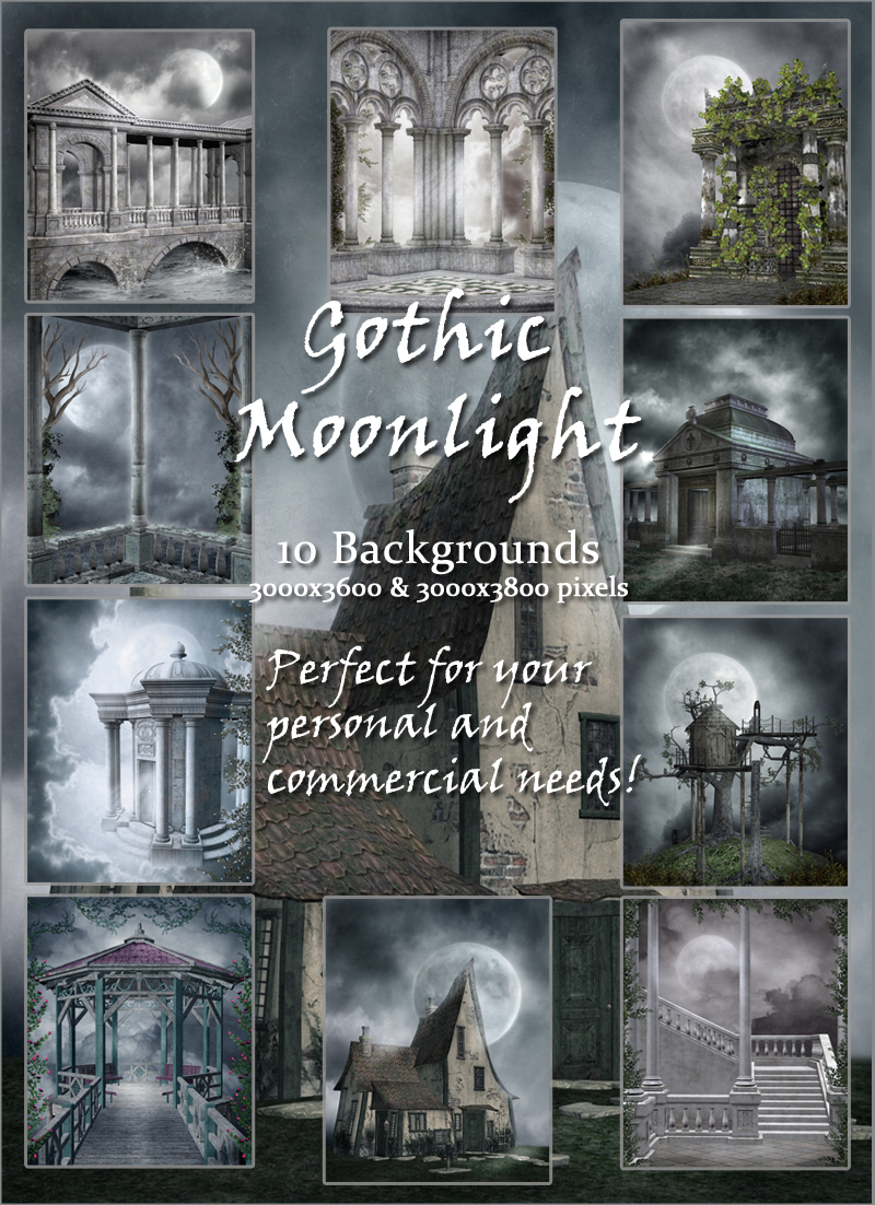 Gothic Moonlight Backgrounds