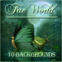 Fae World Backgrounds Themed 2D And/Or Merchant Resources -Melkor-