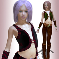 Marilee Outfit for V4 3D Figure Essentials cole4965