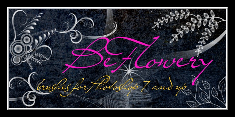 BeFlowery - Brushes for PS 7 and up