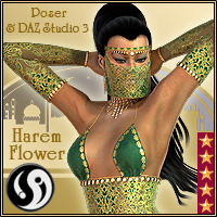 Agrabah Nights: Harem Flower 3D Models 3D Figure Essentials CJ-studio