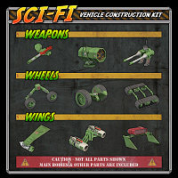 Sci-Fi Construction Kit - Vehicles (for Poser) 3D Models VanishingPoint