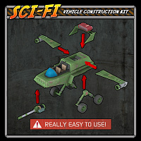 Sci-Fi Construction Kit - Vehicles (for Poser) image 1