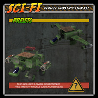 Sci-Fi Construction Kit - Vehicles (for Poser) image 2