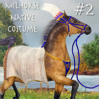 Native Costume 2 for the MilHorse 3D Figure Essentials 3D Models Daio