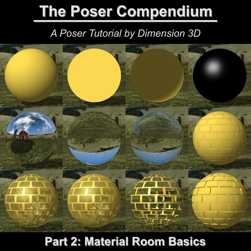 Material Room Basics - The Poser Compendium Part 2