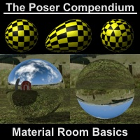 Material Room Basics - The Poser Compendium Part 2 Tutorials : Learn 3D Dimension3D