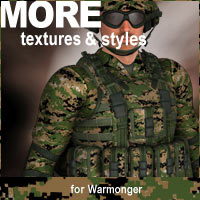 MORE Textures & Styles for Warmonger 3D Models 3D Figure Assets motif