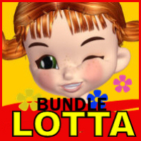 Lotta for Cookie Bundle Themed Characters Clothing Hair WhopperNnoonWalker-