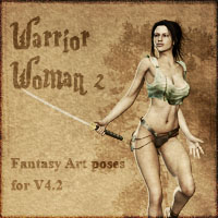 Warrior Woman 2 3D Figure Assets vikike176