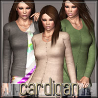 HIGHFASHION Essentials: Cardigan for V4/A4/G4 3D Models 3D Figure Essentials outoftouch