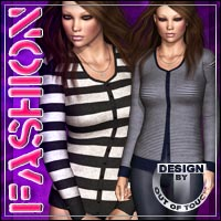 FASHION for HIGHFASHION Essentials: Cardigan 3D Figure Essentials 3D Models outoftouch