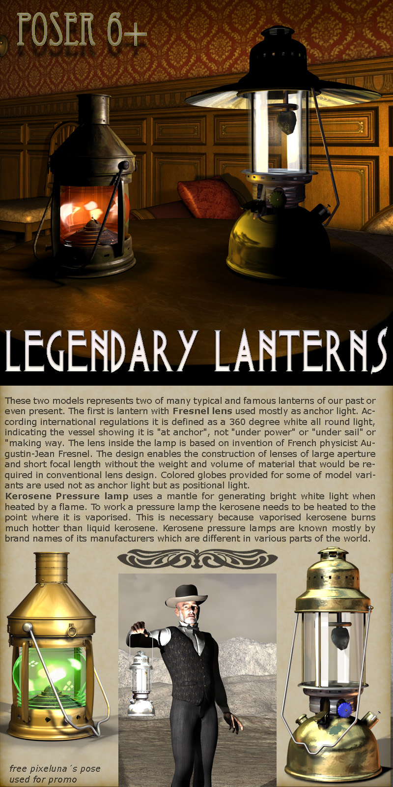 Legendary Lanterns - Poser Version