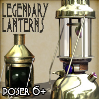 Legendary Lanterns - Poser Version 3D Figure Assets 3D Models Cybertenko