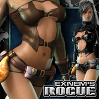 Exnem's Rogue Outfit for V4/A4/GND4/Elite 3D Models 3D Figure Assets exnem