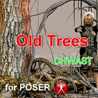 Old Trees Chwast for Poser 3D Models Imaginatos