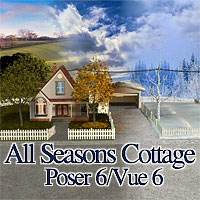 All Seasons Cottage Themed Props/Scenes/Architecture Schurby