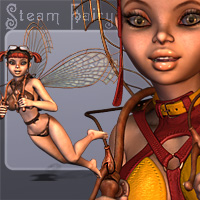 Steam Fairy for V4 3D Models 3D Figure Essentials smay