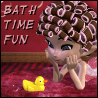 Bath Time Fun for Cookie Hair Props/Scenes/Architecture Propschick