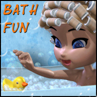 Bath Fun for Cookie Themed Props/Scenes/Architecture 2D And/Or Merchant Resources Propschick