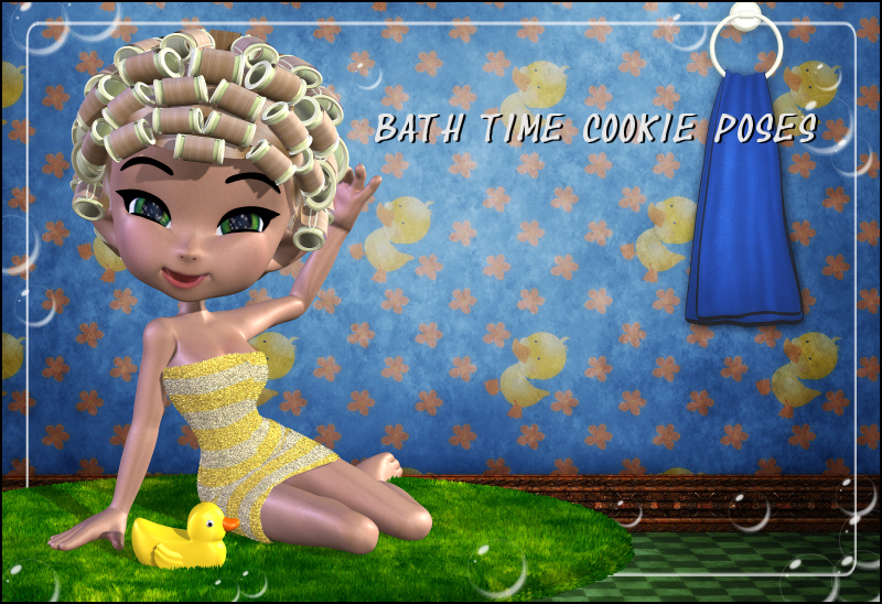 Bath Time Cookie Poses