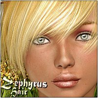 Zephyrus Hair 3D Figure Assets 3Dream