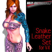 V4 Snake Leather Set 3D Figure Assets billy-t