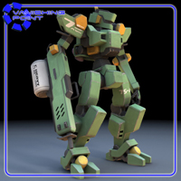 Sentinel Robot Mech (for Poser) 3D Models VanishingPoint