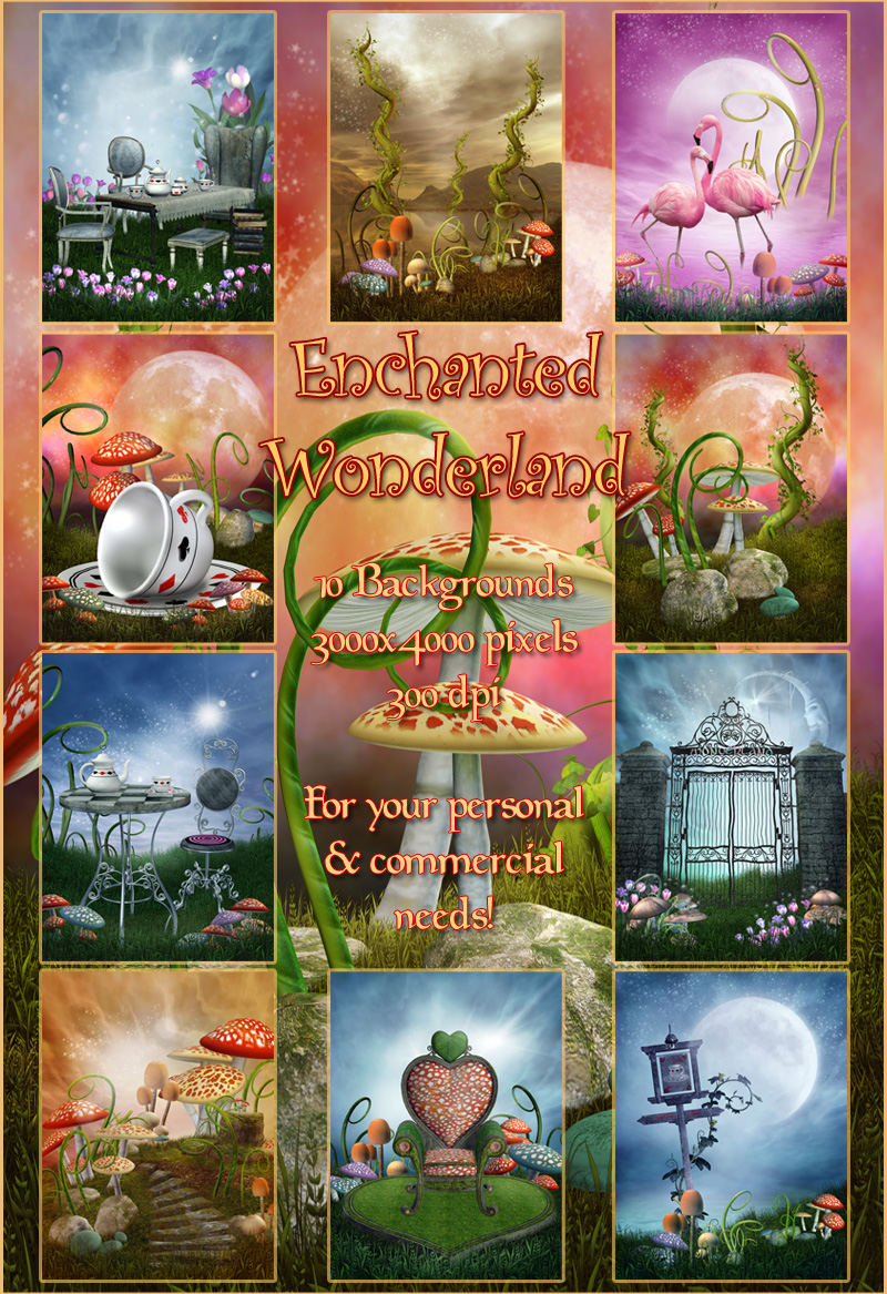 Enchanted Wonderland Backgrounds