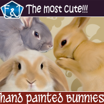 Hand Painted Bunnies 2D Graphics EmmaAndJordi