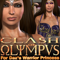 Clash of Olympus for Daz's Warrior Princess  fratast