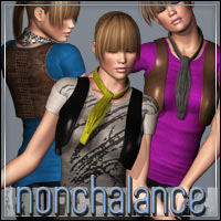 HIGHFASHION Essentials: Nonchalance for V4/A4/G4 3D Models 3D Figure Essentials outoftouch