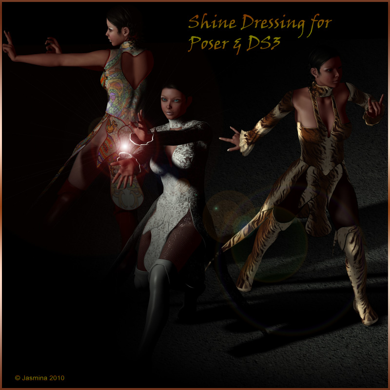 Jasmina's Shine Dressing for V4 (DS3 and Poser)