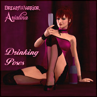 DA - Drinking Poses 3D Figure Assets 3D Models DreamWarrior