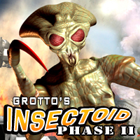 Grotto's Insectoid Phase II for Grotto's Insectoid 3D Figure Assets 3D Models grotto
