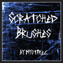 Scratched Brushes 2D Graphics 3D Models mystikel