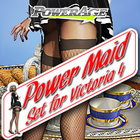 Power maid set for V4 3D Figure Assets 3D Models Legacy Discounted Content powerage