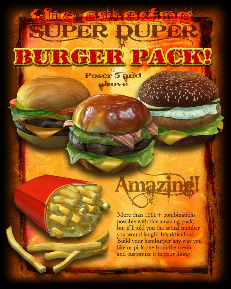 Exnem's Amazing Super Burger Pack