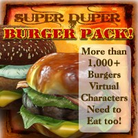Exnem's Amazing Super Burger Pack Props/Scenes/Architecture Software Themed exnem
