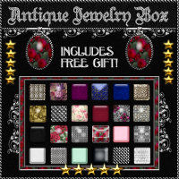 Antique Jewelry Box Photoshop Layer Styles w/Free Gift 2D And/Or Merchant Resources Themed fractalartist01