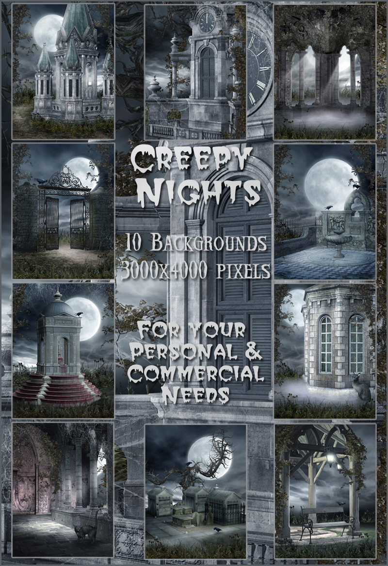 Creepy Nights Backgrounds