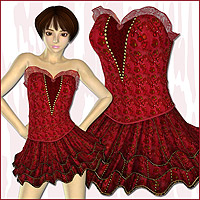 TY2 Ruffle Dress Fashion  karanta
