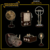 SteamPunk - Study Software Props/Scenes/Architecture Themed jonnte