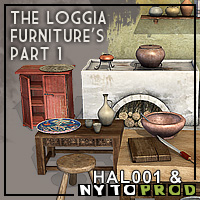 The loggia furnitures part1 3D Models Nytoprod