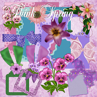 Think Spring Scrap Kit 2D Graphics dpanzee
